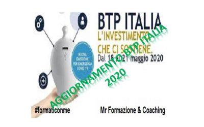 Aggiornamento collocamento Btp italia 2020