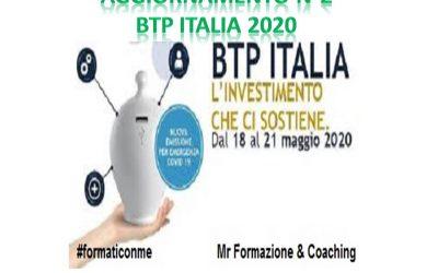 """Nuovo aggiornamento collocamento """"Btp Italia 2020"""""""