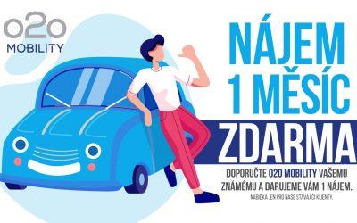 Přiveďte přítele do o2o mobility a získejte měsíční nájem auta jako dárek